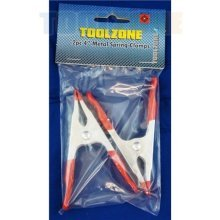 """Toolzone 2pc 4"""" Metal Spring Clamp"""