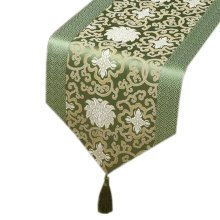 13x79 Inch Table Cloth Dining Table Runner Classical Chinese Style, Light Green