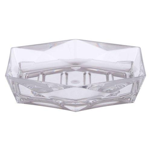 Premier White Ceramic Bathroom Home ceramic Skyline Soap Dish White//black