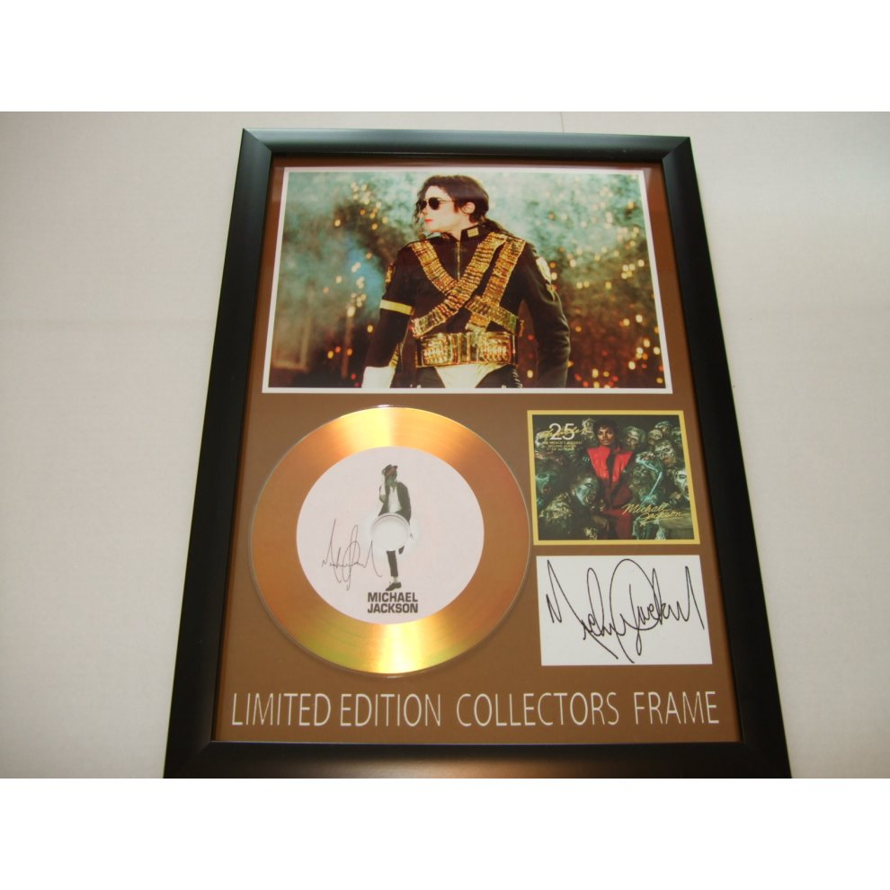michael jackson gold disc