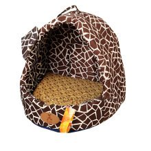 [Gravel Grain]Soft Dog Cat Pet House & Mat,Cat Mongolian Yurts(40*35*35CM)
