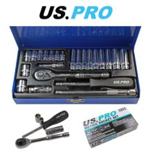 US PRO 24pc 1/4 Dr 6 Point Metric Socket Set 4 - 13mm 3253