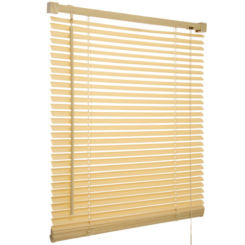 60cm PVC Venetian Blinds Wooden Wood Grain Effect Natural