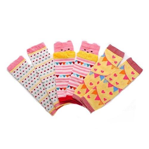 Baby Cotton Socks Baby Leggings Comfy Leg Guards,3 Sets?Yellow )