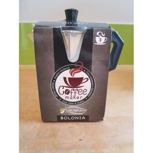 San Ignacio Bolonia Coffee Maker, Aluminium 3 Cup
