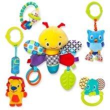 Bright Starts 5 Piece Teethe N Go Pals Baby Gift Set