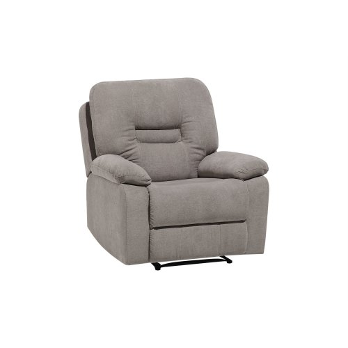 Fabric Recliner Chair Taupe Beige BERGEN