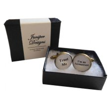 """Handcrafted """"Trust Me - I'm an Accountant"""" Cuff links - Excellent Valentine's Day, Christmas, thank you or birthday gift"""