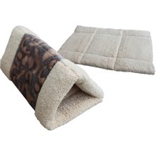 Cat Tunnel, Opens Into A Bed, Brown Tiger Pattern