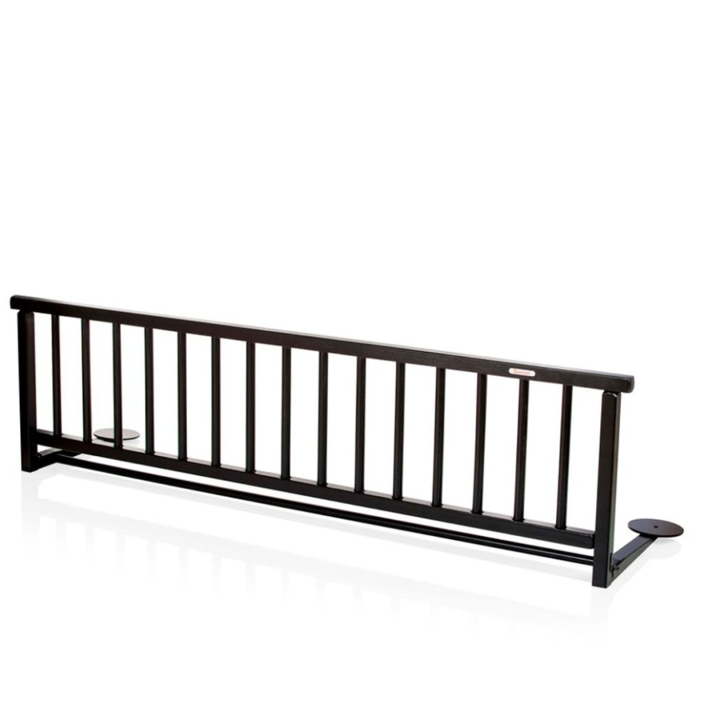 HOMCOM Mesh Fence Swing Down Bed Rail Safety Double Bed Guard For Toddlers Children Portable Grey