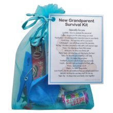 New Grandparent's Survival Kit (Blue) - Great novelty gift for a new grandparent!