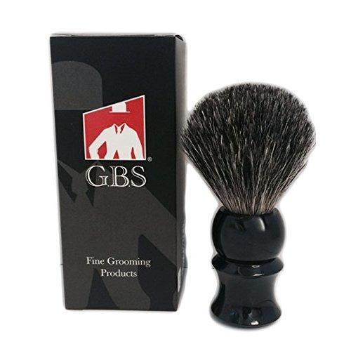 GBS 100% Pure Badger Bristle Shaving Brush Black Handle
