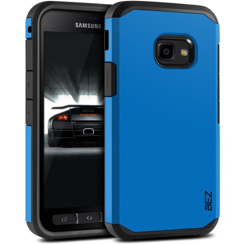BEZ Xcover 4 Case Shockproof Case Cover, Shock Absorbing Best Heavy Duty Dual Layer Tough Cover for Samsung Galaxy Xcover 4 - Blue Navy