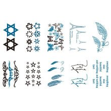 10 Sheets Fashion Body Art Stickers Removable Waterproof Temporary Tattoos ( A )