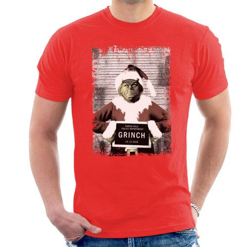 The Grinch Christmas Mugshot Men's T-Shirt