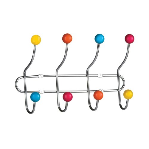 8 Hook Wall Hanger - Multi-Coloured