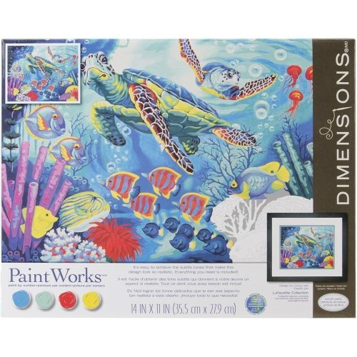 "Dpw91454 - Paintsworks Paint by Numbers 14"" X 11"" - Sea Turtles"