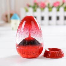 Volcanic Eruption Oil Droplets Sandglass Hourglass Crafts Sand Timer Clock Office Home Decor