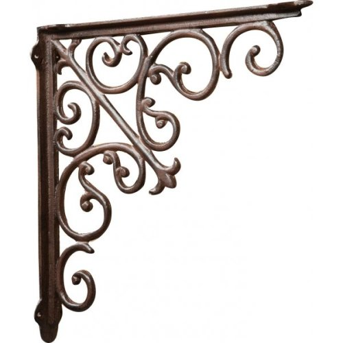 Cast Iron Made Antiqued Rust Finish W39xp5xh39 Cm Sized Wall Shelf