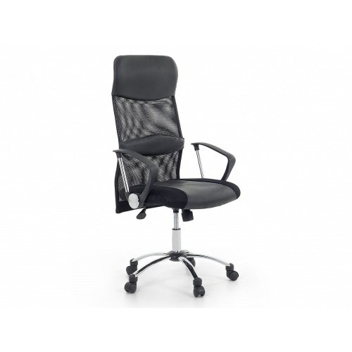 Beliani Design Black Leather Adjustable Office Chair