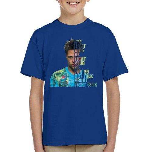 Fight Club Tyler Durden Half Head Kid's T-Shirt