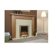 "Designer Fire Electric - Celsi Opulence Brass 16"""