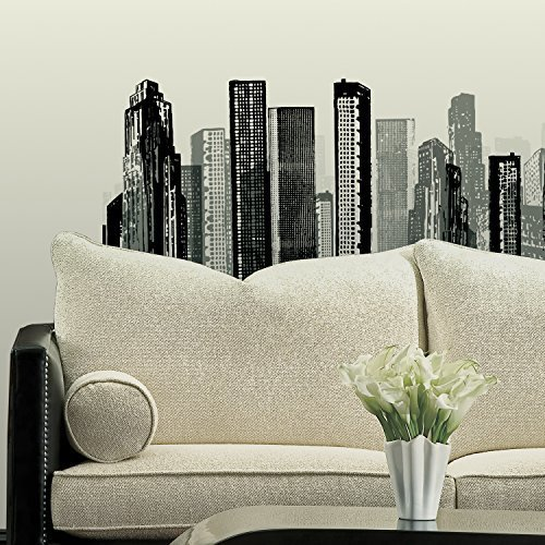 RoomMates RMK1602GM Cityscape Peel and Stick Giant Wall Decal
