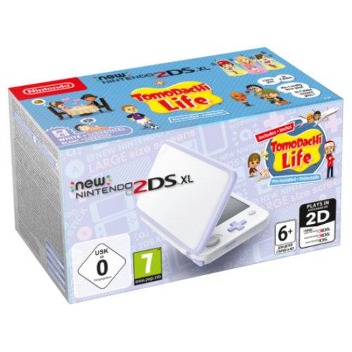 New Nintendo 2DS XL white lavendel incl. Tomodachi Life