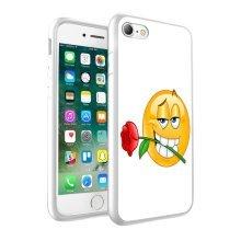 i-Tronixs - Emoji In Love Rose Design Printed Case Skin Cover - 013