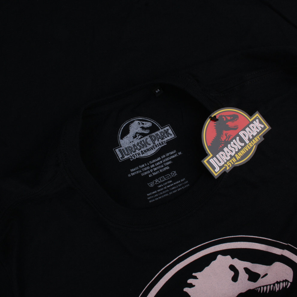 67d4a396 ... Jurassic Park Logo Ladies T-shirt Black - 4. >