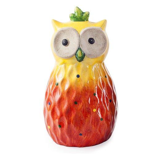Orange Tropic Sunshine Terracotta Owl Garden Ornament