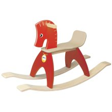 Wonderworld Rocking Horse Red and Brown HOUT192476