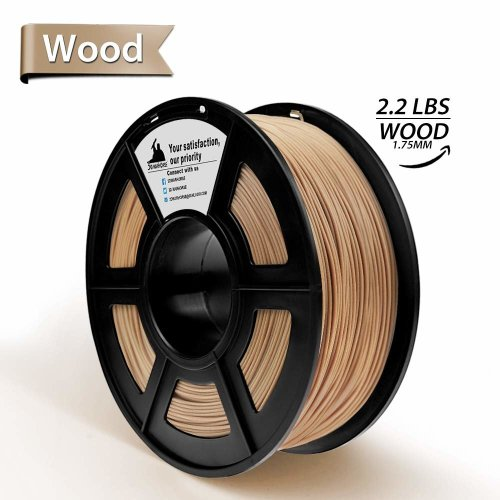 WOOD 3D Printer Filament,PLA 3D Printing Materials, Dimensional Accuracy +/- 0.02 mm, 2.2 LBS(1kg),1.75mm PLA WOOD Filament