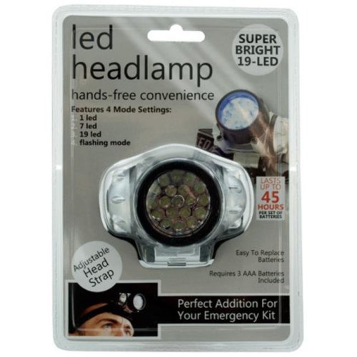 DDI 1765902 19-LED-Light Headlamp