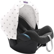Dooky Dooky Hoody Replacement Infant Car Seat Hood Silver Stars