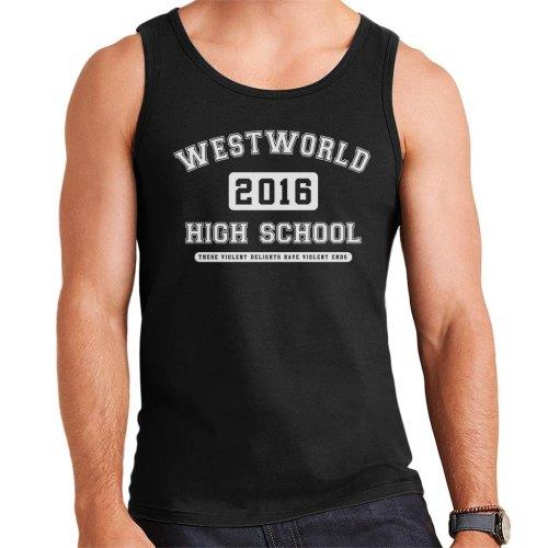 Westworld High School Varsity Text Men's Vest