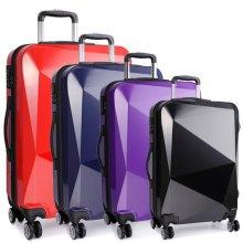 KONO Luggage Suitcase Trolley Case Bag 20 24 28 Inch Set Diamond Shape