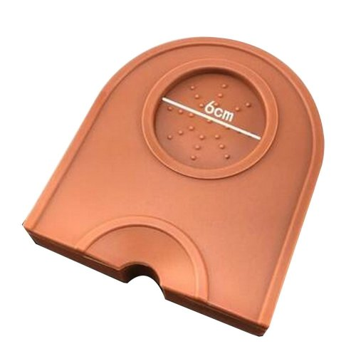 Silicone Rubber Coffee Espresso Tamping Mat  Corner Mat Pad Small [Brown]