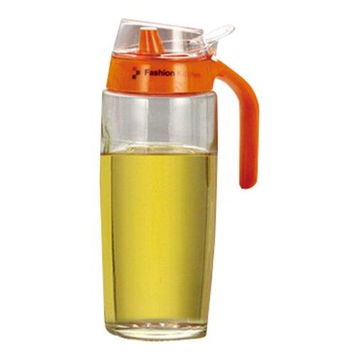Creative Oil / Vinegar Cruet Square Glass Bottle  Orange