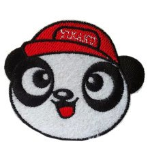 """Set of 2 Lovely Panda in Hat Patches Creative Armband Badge Applique 2.4*2.1"""""""