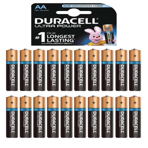 Duracell Ultra Power AA Alkaline Batteries LR6 MN1500 1.5V Battery 20 Pack