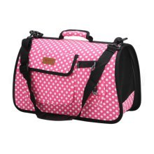 Pet Carrier Soft Sided Travel Bag for Small dogs & cats- Airline Approved, Pink #50