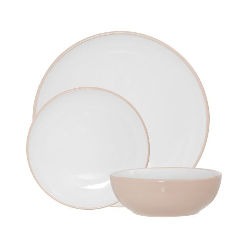Sienna 12Pc Dinner Set, Natural Stoneware