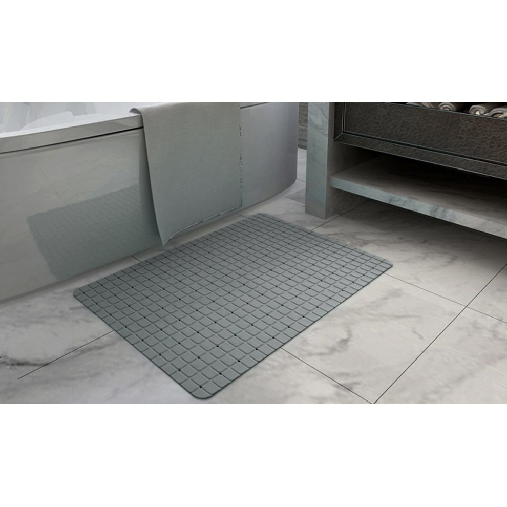 Matte Finish /& UrsoKuz Non Slip Minimalist Shower Mat Bath Mat Colour Grey