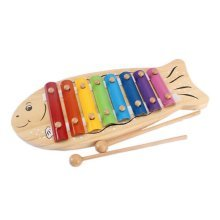 Hammer Percussion Hand Knock Children Music Toy Piano--Fish