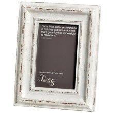 4x6 Distressed White Antique Photo Frame -  4 x 6 distressed white antique photo frame remember special day