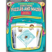 Challenge Puzzles and Mazes, Homework Helpers, Grade 3 (Brighter Child: Homework Helpers)