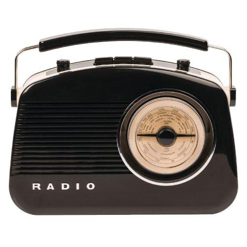 Konig 50's 60's Retro Radio with Bluetooth Wireless Technology - Am/fm - Black