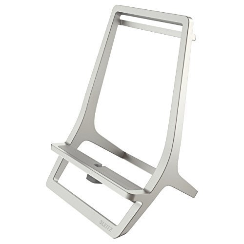 Leitz Tablet Stand, Zinc, Universal, Style Range 65110084 - Silver