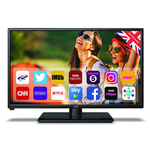 """Cello Traveller 22"""" Inch Full HD 1080p 12v TV with Android and Satellite Tuner"""